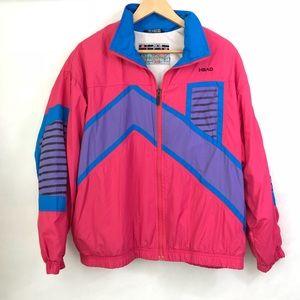 Vintage 80s 90s Windbreaker Jacket Pink Athletic